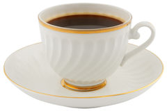 soucoupe en cuvette de café Photographie stock