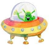 Soucoupe volante en UFO Image stock