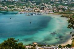 Souda port on Crete island, Greece. Souda port view on Crete island, Greecen Royalty Free Stock Images