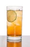 Soude de thé de citron de glace Photos stock