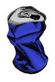 Soude ou canette de bière vide chiffonnée illustration libre de droits
