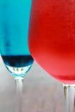 Soude rouge de bleu de soude Images libres de droits