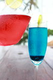 Soude rouge de bleu de soude Images stock