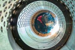 Soudeuse de tunnel en métal photographie stock libre de droits