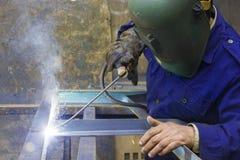 Soudeuse en acier Image stock