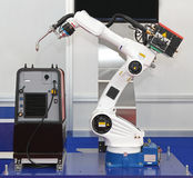 Soudeuse robotique de bras photos libres de droits
