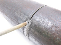 soudure de pipe Image stock
