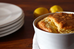 Soufflé with cheese served for lunch Royalty Free Stock Photos