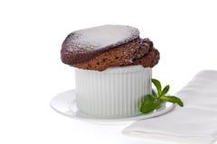 Soufflè del cioccolato Fotografie Stock