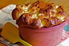 Soufflè di formaggio casalingo Fotografia Stock Libera da Diritti