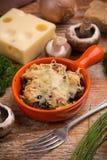 Soufflè di formaggio e del pane immagine stock