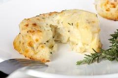 Soufflè di formaggio e della patata Fotografie Stock