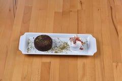 Soufflé de chocolat Photographie stock