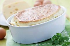 Soufflé de fromage Photo libre de droits