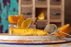 Soufflé orange de gâteau Image libre de droits