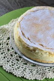 Souffle cheese cake. Souffle cheese cake made with egg yolks and beaten egg whites Royalty Free Stock Photography