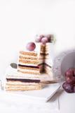 Souffle κέικ περικοπών σε ένα άσπρο υπόβαθρο στοκ εικόνα