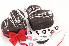 souffle καρδιών σοκολάτας Στοκ Εικόνες