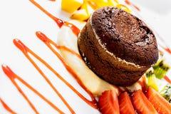 souffle σοκολάτας Στοκ Φωτογραφίες