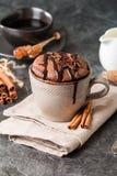 Souffle σοκολάτας με Στοκ εικόνες με δικαίωμα ελεύθερης χρήσης