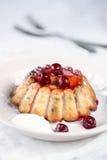 Souffle τυριών εξοχικών σπιτιών κέικ Στοκ Φωτογραφίες