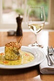 Souffle. A beautiful fish souffle served in a restaurant Stock Photos