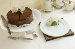 Souffle Cake with chocolate glaze Royalty Free Stock Photo