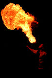 Souffle chaud photo libre de droits