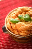 Souffle with cheese and basil Stock Photos