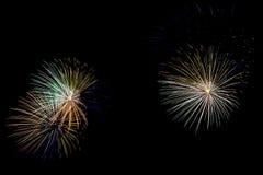 Souffle coloré de feux d'artifice Photo libre de droits