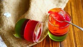 Souffle coloré par fruit de gelée banque de vidéos