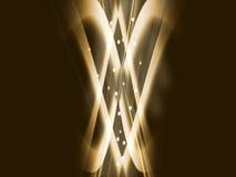 Souffle d'or excessif Image libre de droits