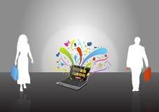 Souffle de commerce électronique Photographie stock libre de droits