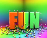 Souffle de couleur d'amusement Illustration Stock