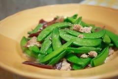 Souffle de haricots verts avec du boeuf Images stock