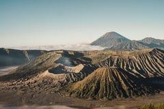Souffle de montagne de Bromo photos stock