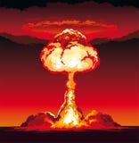Souffle de panne atomique dans le désert Photo libre de droits