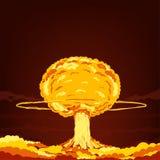 Souffle de panne atomique dans le désert Illustration de vecteur de dessin animé illustration stock