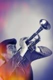 Souffle de trompette de vintage Images stock