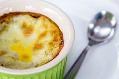 Souffle i en kopp royaltyfri fotografi