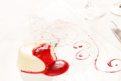 Souffle with raspberry Stock Photos