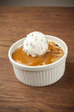 Souffle with a scoop of ice cream Royalty Free Stock Photography