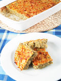 Souffle with spinach and cheese Royalty Free Stock Images