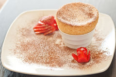 Souffle top view Royalty Free Stock Photo