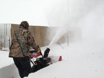 Soufflement de neige photographie stock libre de droits