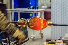 Soufflement en verre, Leerdam, Pays-Bas photographie stock libre de droits