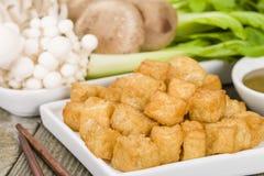Souffles de tofu photographie stock libre de droits