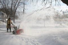 souffleuse de neige d'action Photos stock