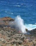Soufflure d'océan dans Maui Photo stock