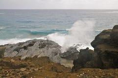 Soufflure de Halona, Oahu image libre de droits
